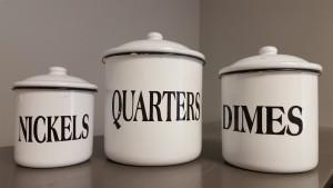 three money jars