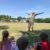 volunteer jumping for joy
