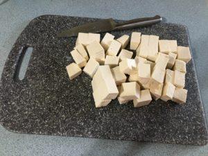 tofu cut into cubes