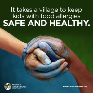 It takes a village to keep kids with food allergies safe and healthy.